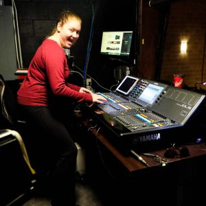Technical Stage Manager Monica is excited to be in the Kailash Mital tech booth!
